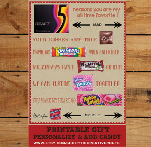 ... Candy Editable text area to personalize Candy Poster Husband Boyfriend