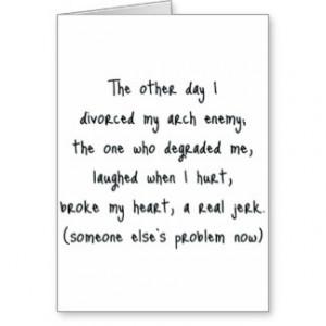 Divorce Poem Card