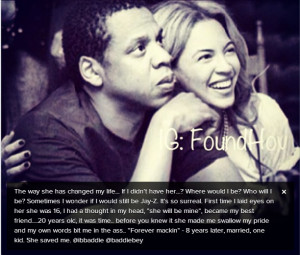 """Jayz Shows Beyonce Love on Instagram – """"She Saved Me"""""""