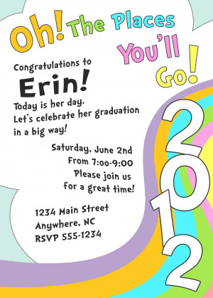 Oh, The Places You'll Go - Graduation Invite