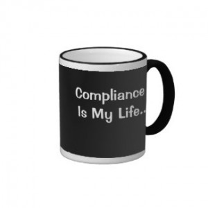 mug that may lead to an interesting compliance conversation
