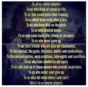 Soccer Quotes for Girls   soccer girls