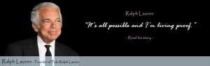 ... usia 15 tahun, dia kemudian mengganti namanya menjadi Ralph Lauren
