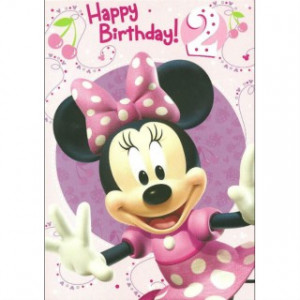 ... Mouse Clubhouse 'Happy Birthday - 2' Girls 2nd Birthday Card - Minnie