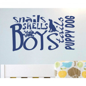 ... Snails Shells Word Collage Vinyl Wall Quotes Lettering Decals Stickers