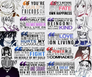 Group of: Fairy Tail Quotes