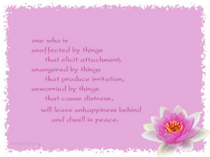 Spirituality quotes, attachment quotes, unaffected by things quotes