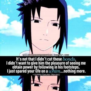 Sasuke | Naruto quotes