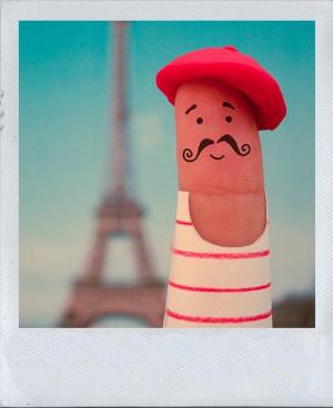 finger, funny, moustache, paris