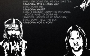 humor quotes the lord of the rings aragorn gimli legolas 1680x1050 ...