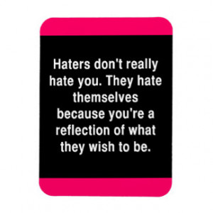 THE TRUTH ABOUT HATERS QUOTE COMMENTS ATTITUDE MAGNET