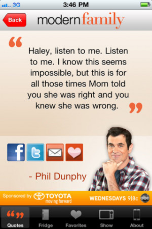 Free Modern Family: Family Sayings iPhone App & Review