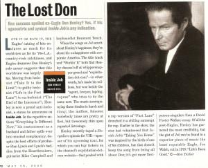 Don Henley in the Press - Retro Edition!