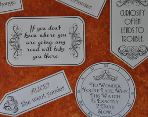 Alice Wonderland Mad Hatter Tea Party Quotes And Sayings Pdf