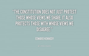 The Constitution does not just protect those whose views we share; it ...