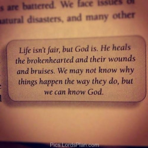 explained about the lords plan and how he heals the broken hearts ...
