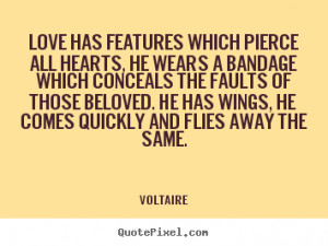 Voltaire Love Quotes: Quote About Love Love Has Features Which Pierce ...