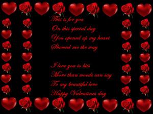 Valentine Poems In Frames