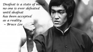 Bruce Lee BW Defeat martial art text quotes black white wallpaper ...