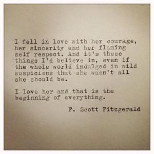 Scott Fitzgerald Framed Love Quote Made On by farmnflea on Etsy, $15 ...