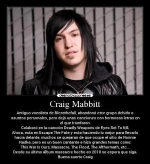 Craig Mabbitt Photo...