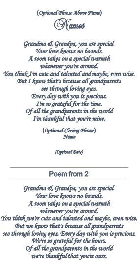 Grandparents Poems 50th Anniversary