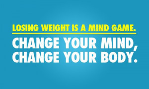 Losing Weignt is A Mind Game Weight Loss Quotes