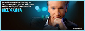 Bill Maher Quote Facebook Cover