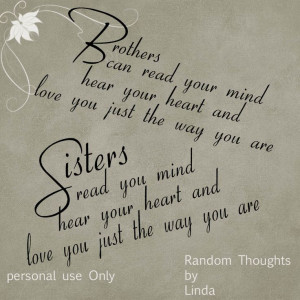 ... sisters qoutes random thoughts at linda s place brothers and sisters