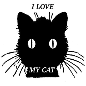 Love My Cat Digital Art