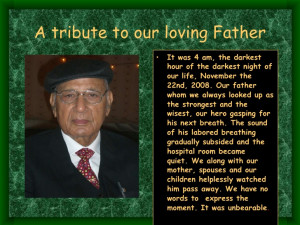 Tribute To Our Loving Father