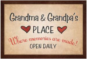 Grandma And Grandpa Place Poster