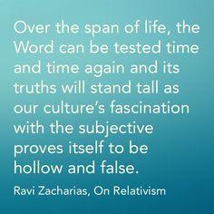 Ravi Zacharias, Moral Relativism More