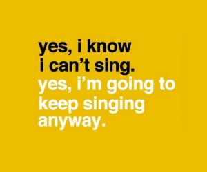 quotes about singing