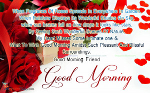 Good Morning SMS For Friend Quotes (4) Good Morning Quotes For Your ...