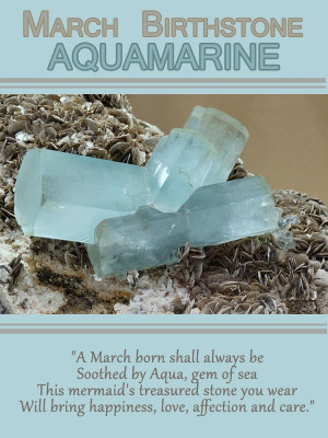 Aquamarine – March Birthstone Only the best month to be born in! :)