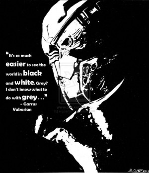 Garrus, Black and White - With Quote by rnpcarter