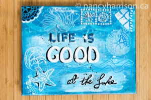 Lake House Decor Quote - Life Is Good At The Lake - Beach Cabin Art ...
