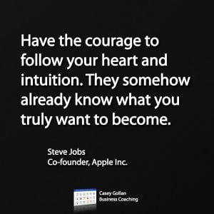 Steve Jobs Motivational Quote | Courage To Follow Your Heart