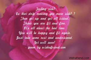 Prayer For Someone Sick Quotes ~ Get Well Soon Poems