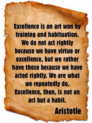 Aristotle Quote on Virtue