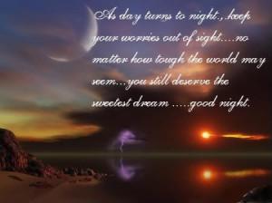 Inspirational Motivational Good Night Poem Sms Poetry