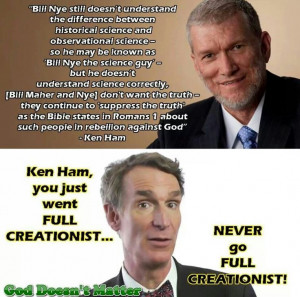 love how he gives Bill Nye shit for not knowing his totally made up ...