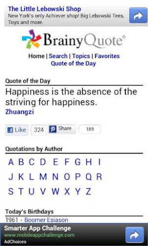 Nov 2009 . Brainy Quote for iOS - A huge collection of brainy quotes ...