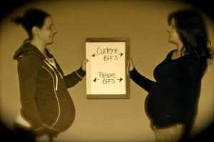 Best friends pregnant together... lets see a wedding in October of ...