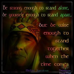 Native American Inspirational Sayings