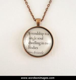 Aristotle friendship quotes
