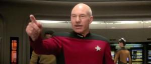 Patrick Stewart as Captain Jean-Luc Picard in Star Trek - Generations ...