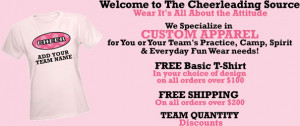 Cheer Quotes For Shirts Cheerleading t-shirts