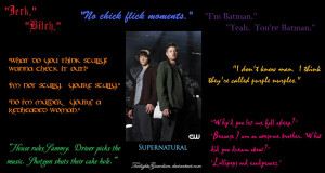 Supernatural Quotes Wallpaper by TwilightsGuardian